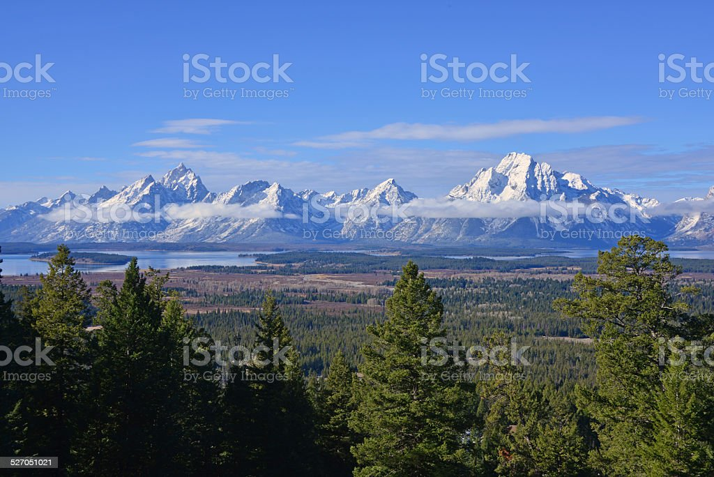 The Heart of the Teton Range stock photo