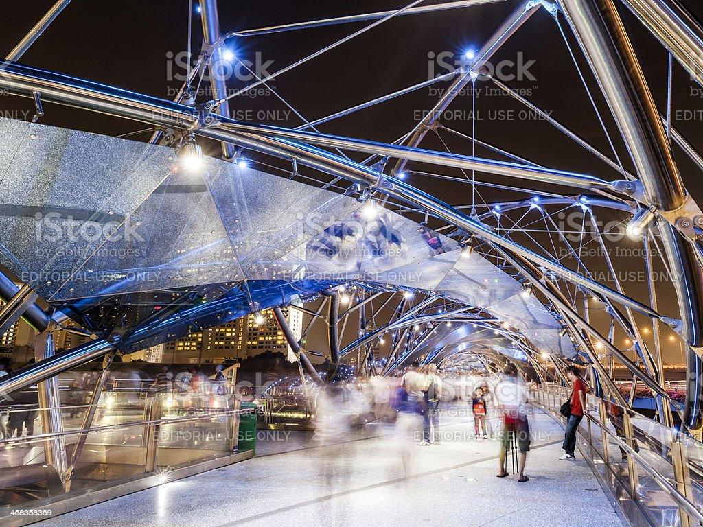 The Helix Bridge in Singapore royalty-free stock photo