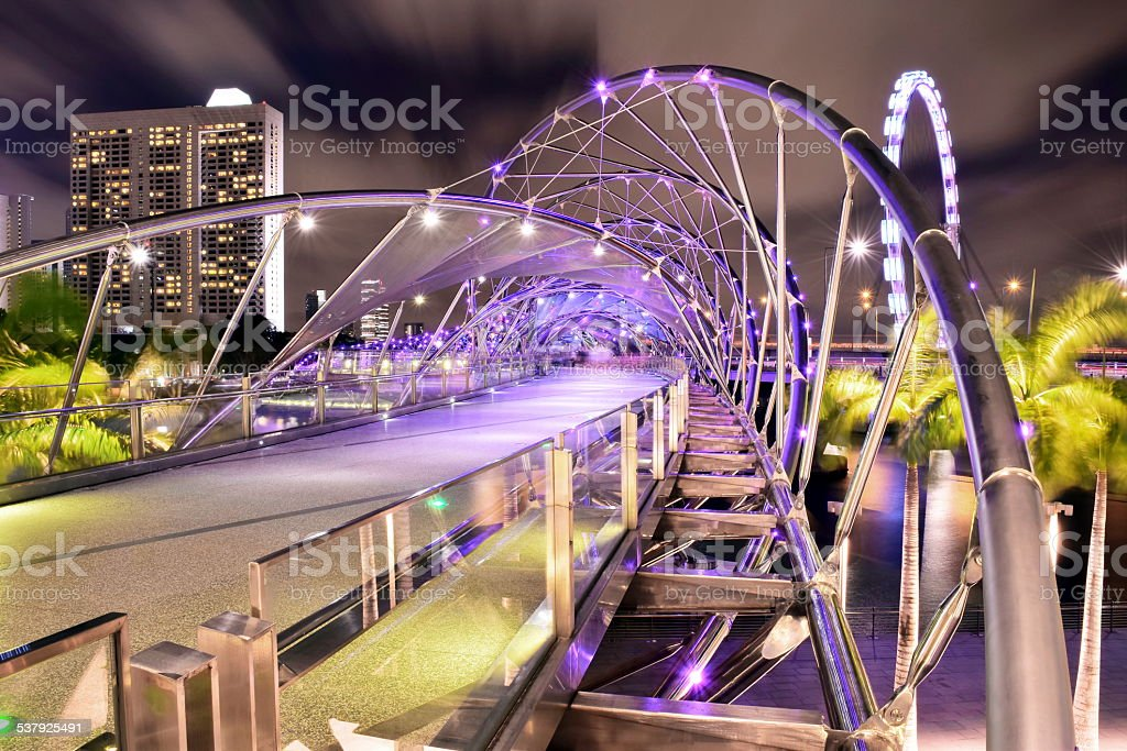 The Helix Bridge stock photo