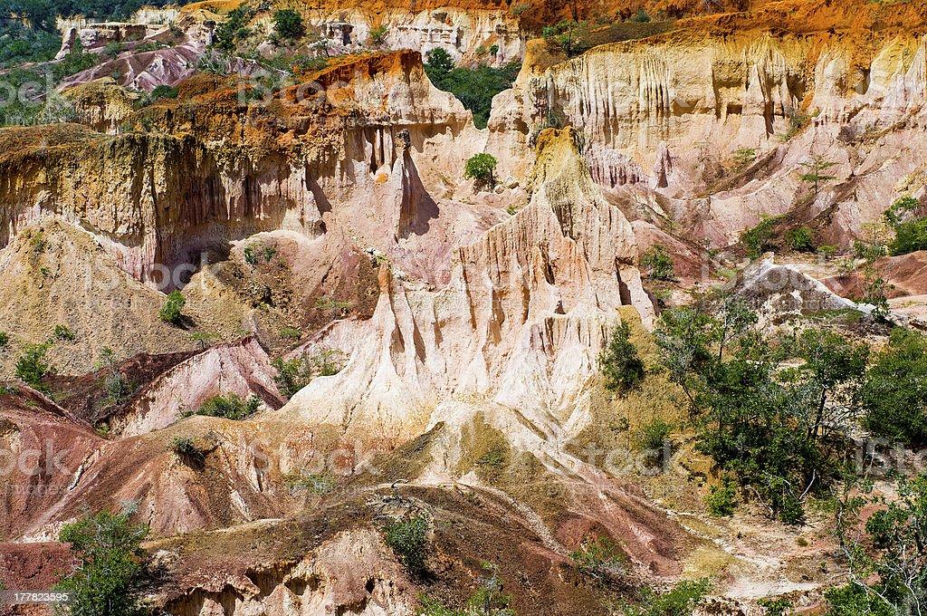 The Hell's Kitchen, Marafa Canyon stock photo