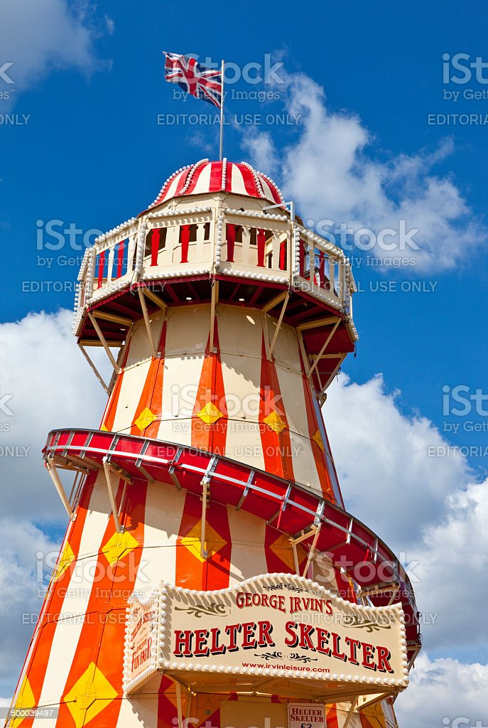 The Helter Skelter in the Queen Elizabeth Olympic Park in London stock photo