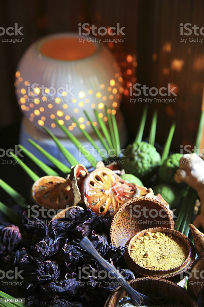 The Herbal for spa treatment royalty-free stock photo