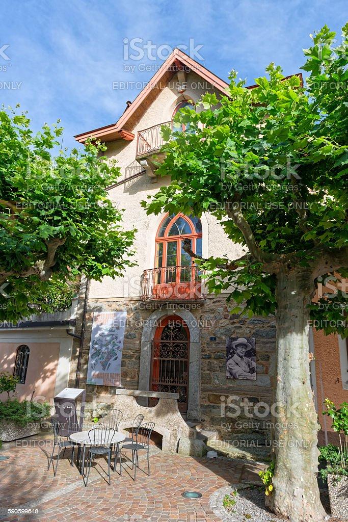 The Hermann Hesse Museum in Montagnola stock photo