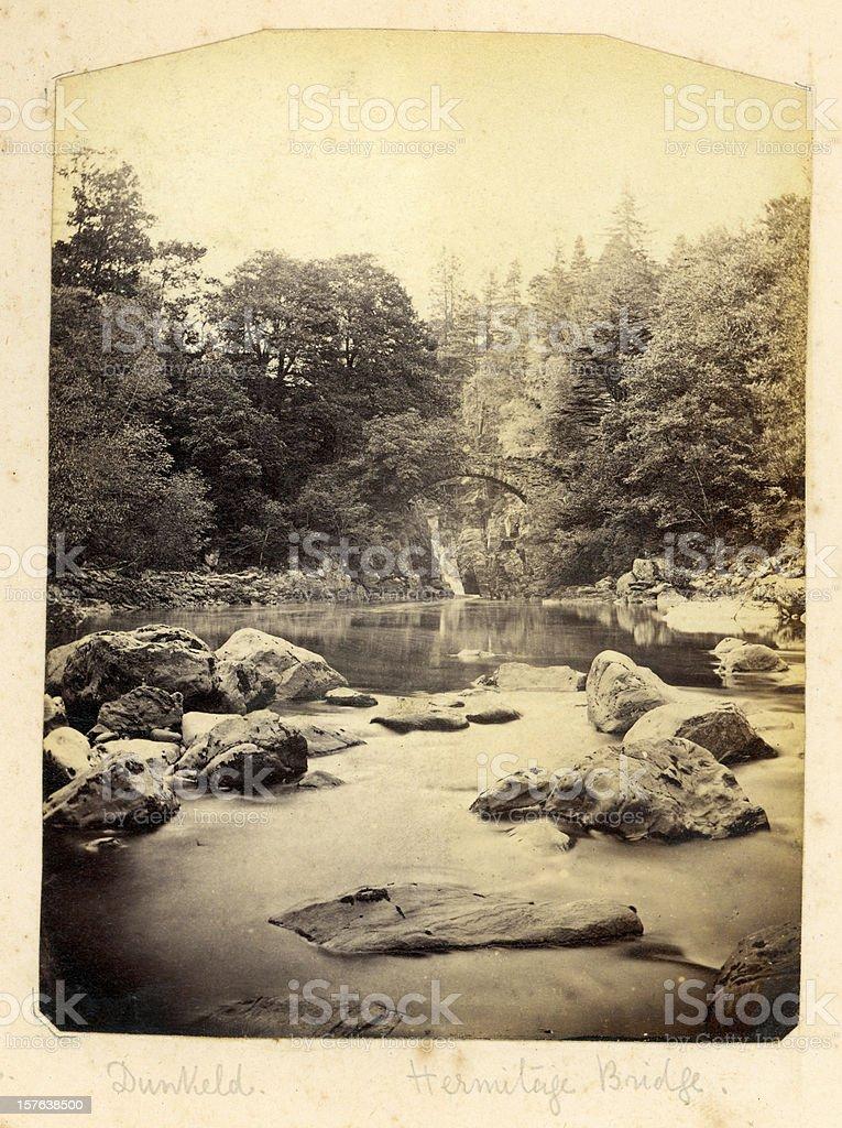 The Hermitage Bridge Dunkeld royalty-free stock photo