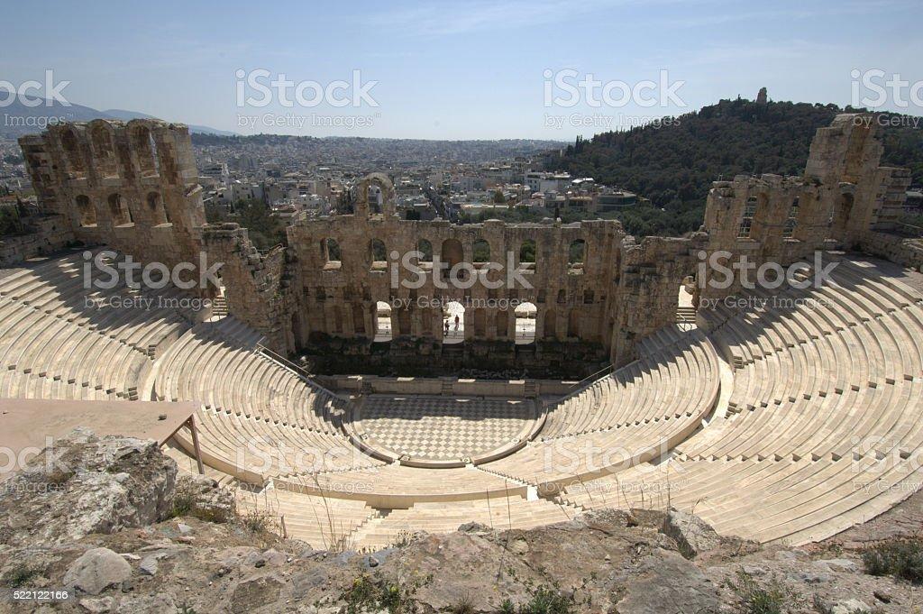 The Herodion Theatre stock photo