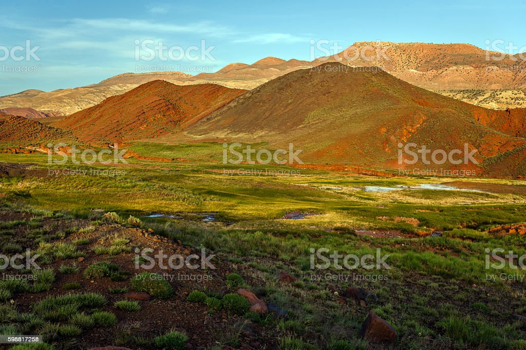The High Atlas, valleys, hills, Morocco,North Africa stock photo