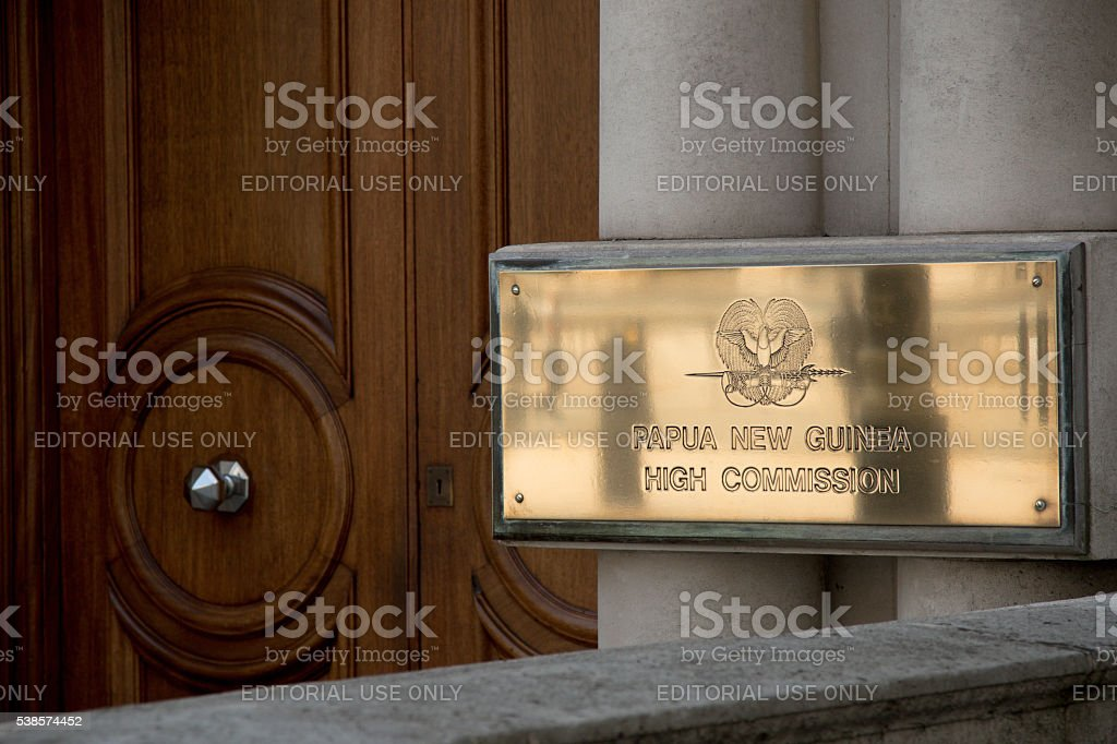 The High Commission of Papua New Guinea, London, United Kingdom stock photo