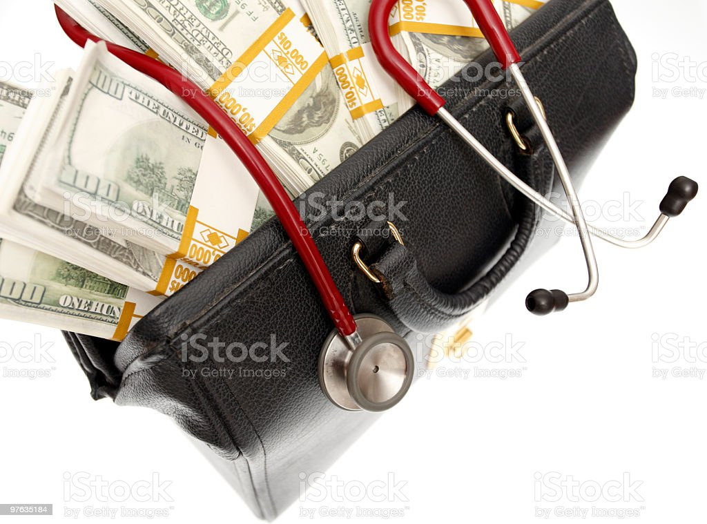 The high cost of health care stock photo
