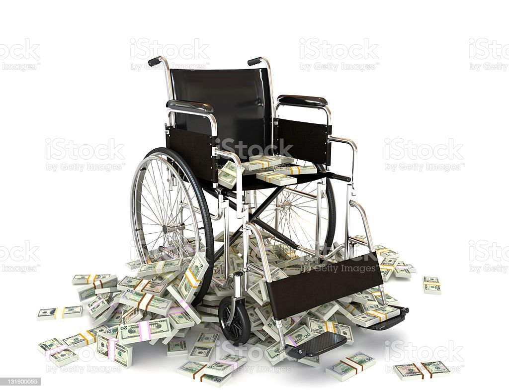 The high costs of medical care stock photo