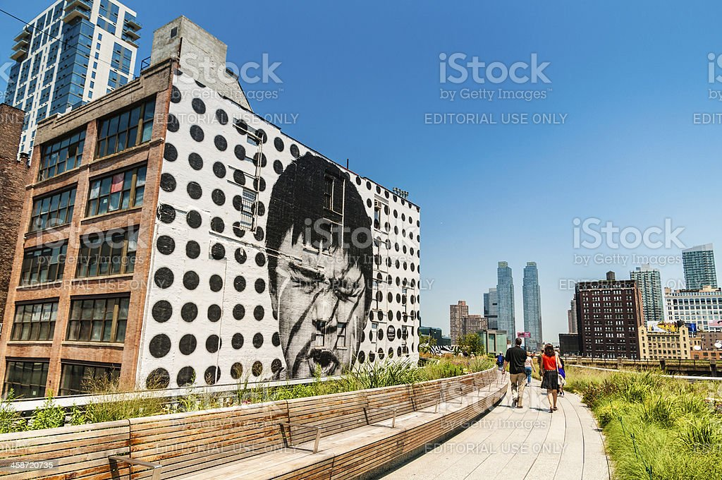 The High Line Park New York stock photo