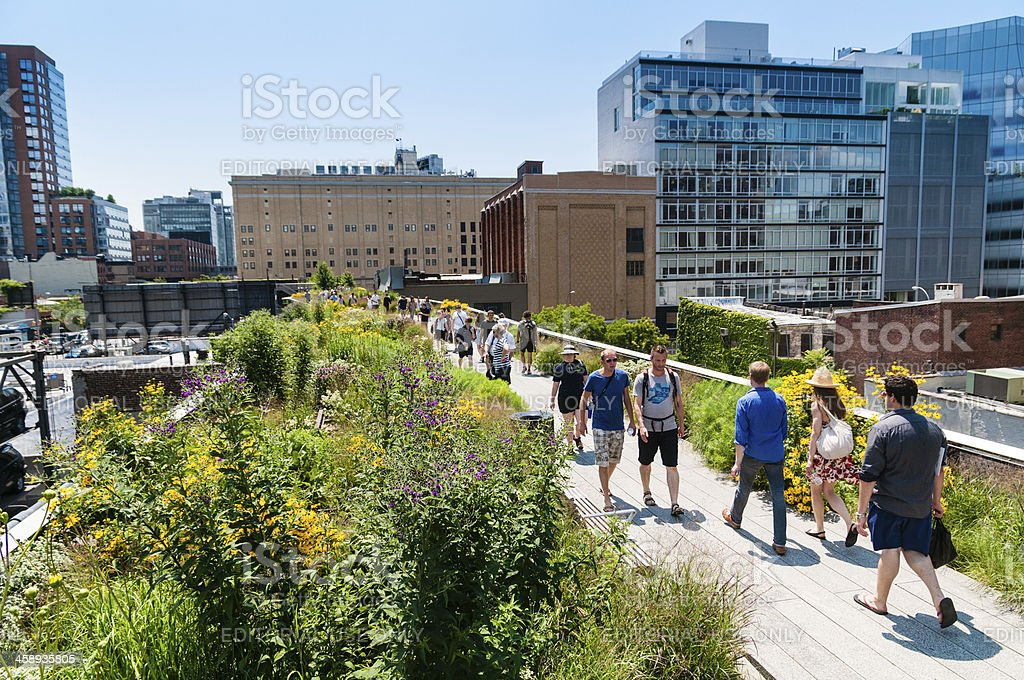 The High Line Park New York royalty-free stock photo