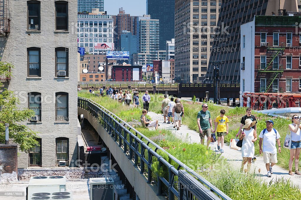 The High Line Park New York stock photo