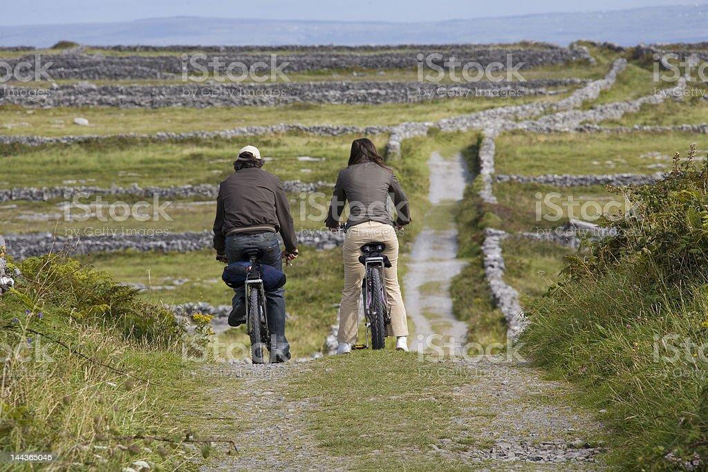 High Road, Inis Mór, Îles d'Aran, en Irlande photo libre de droits