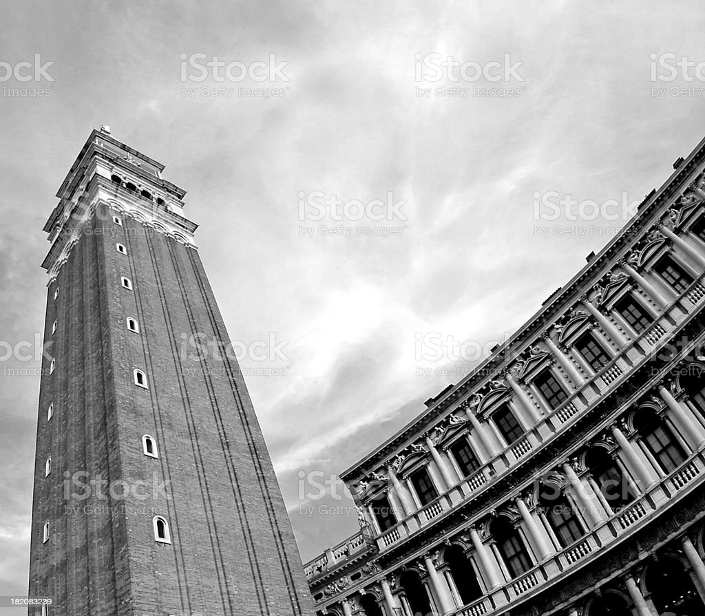 the highest and most famous campanile in Piazza San Marco royalty-free stock photo