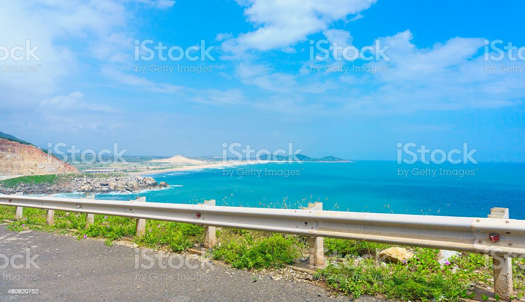 The hightway through coast stock photo