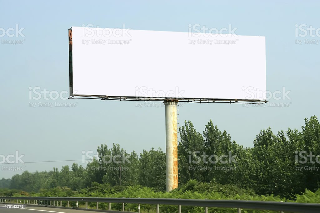 the highway billboard stock photo