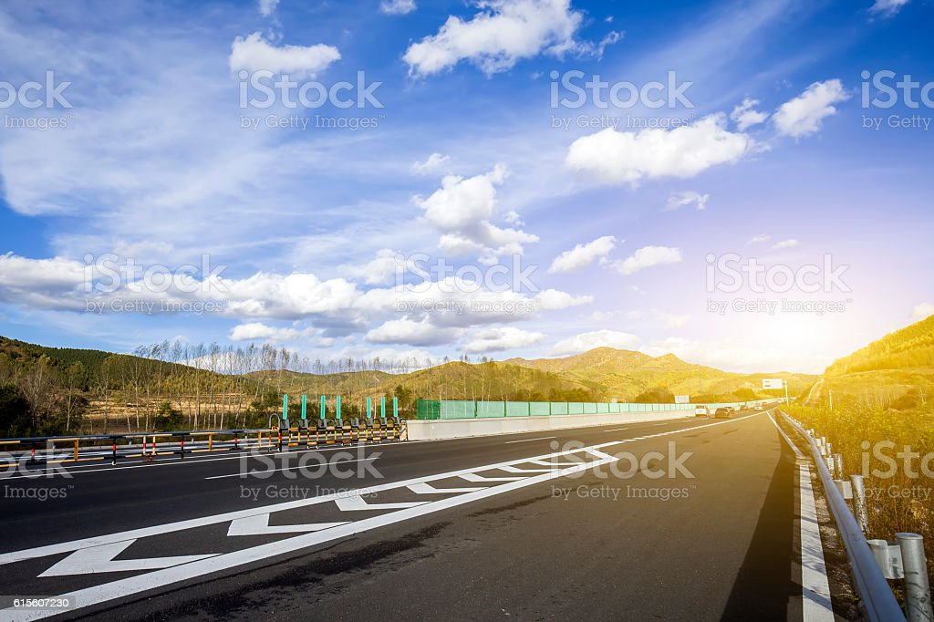 The highway stock photo