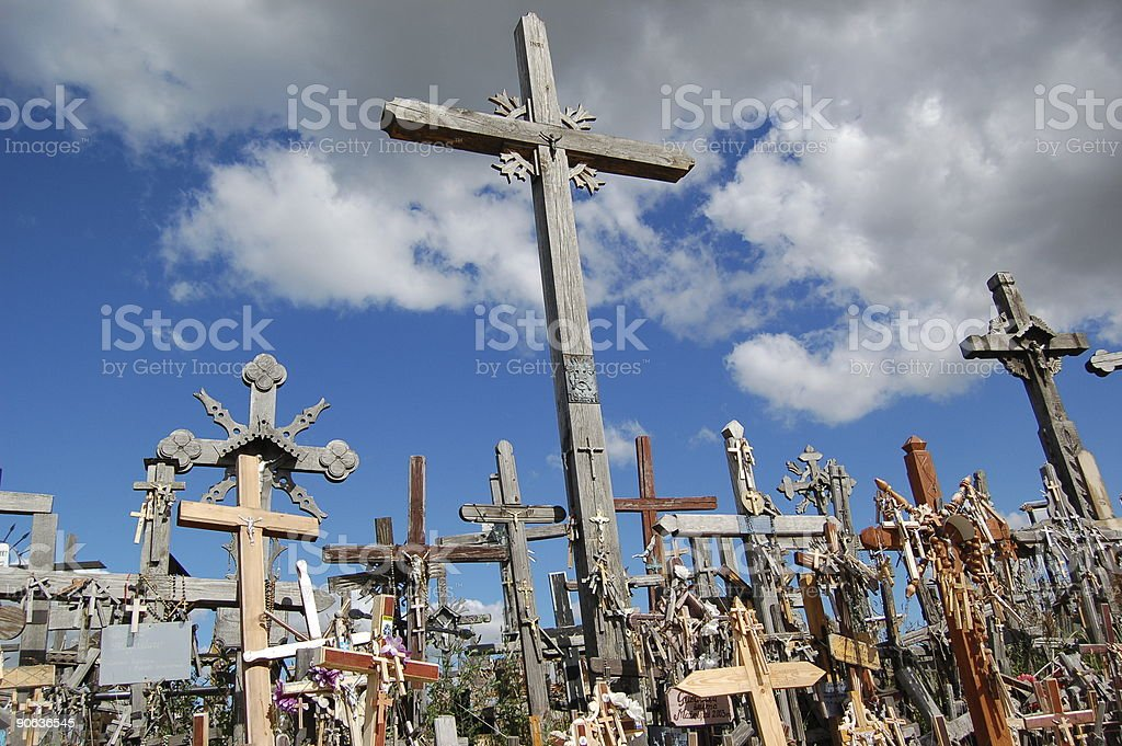 The Hill of Crosses stock photo