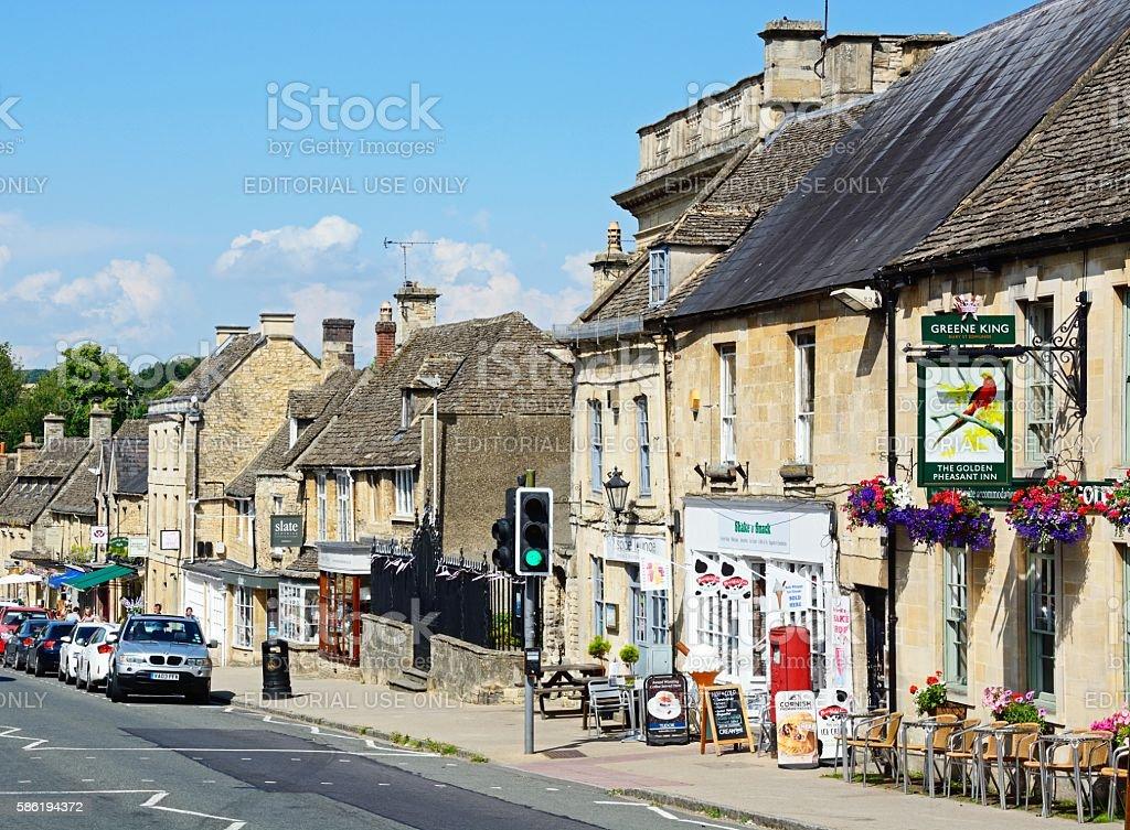 The Hill shopping street, Burford. stock photo