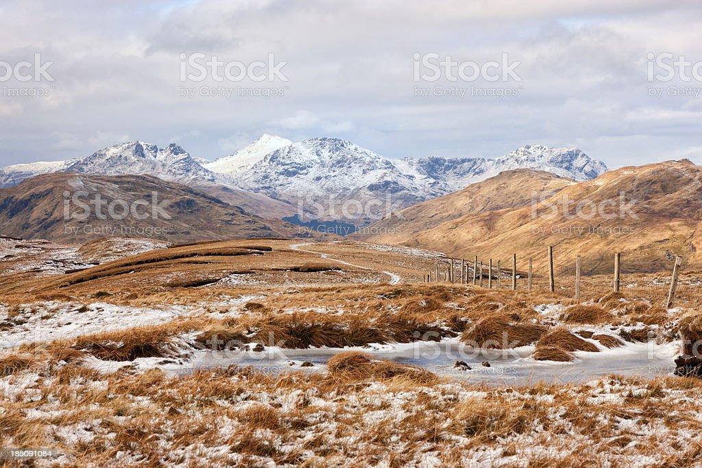 The Hills Around Loch Lomond stock photo
