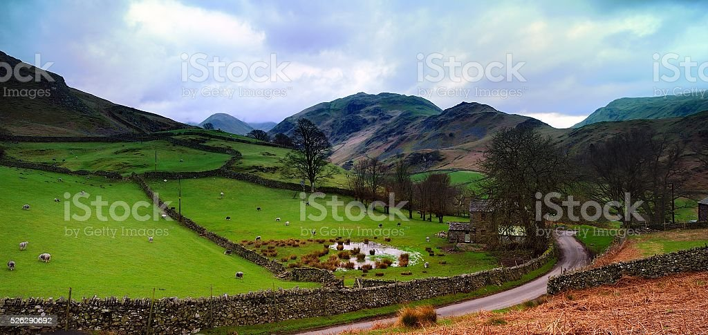 The hills of Martindale stock photo
