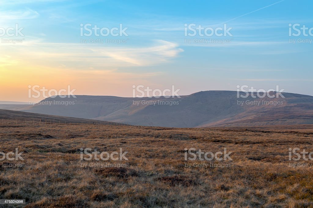 The hills of Snake Pass. stock photo