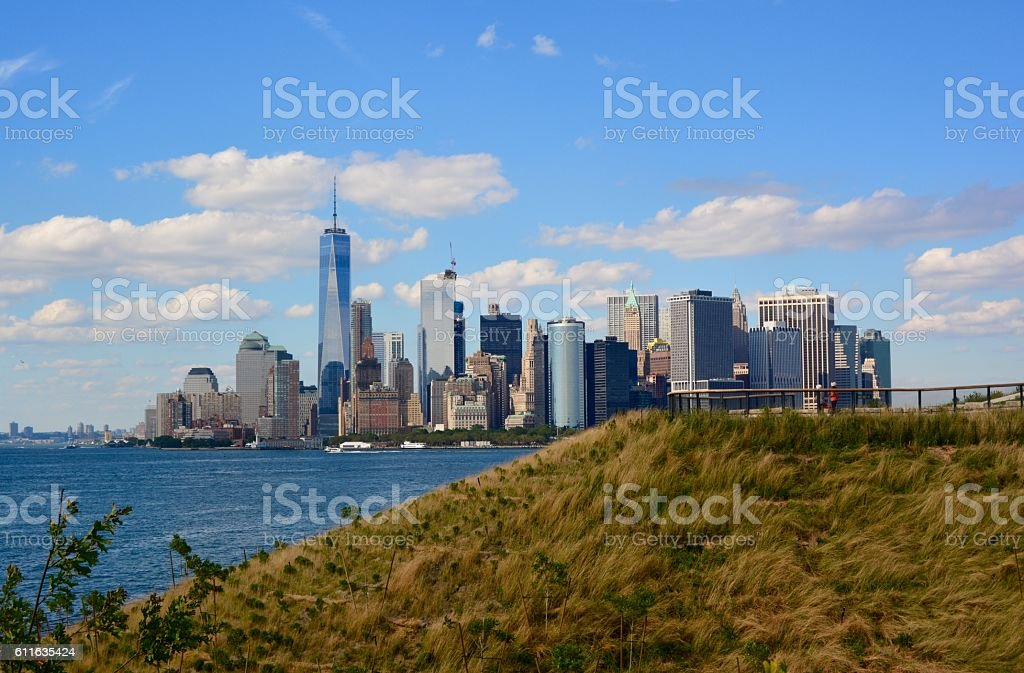 The Hills on Governors Island stock photo
