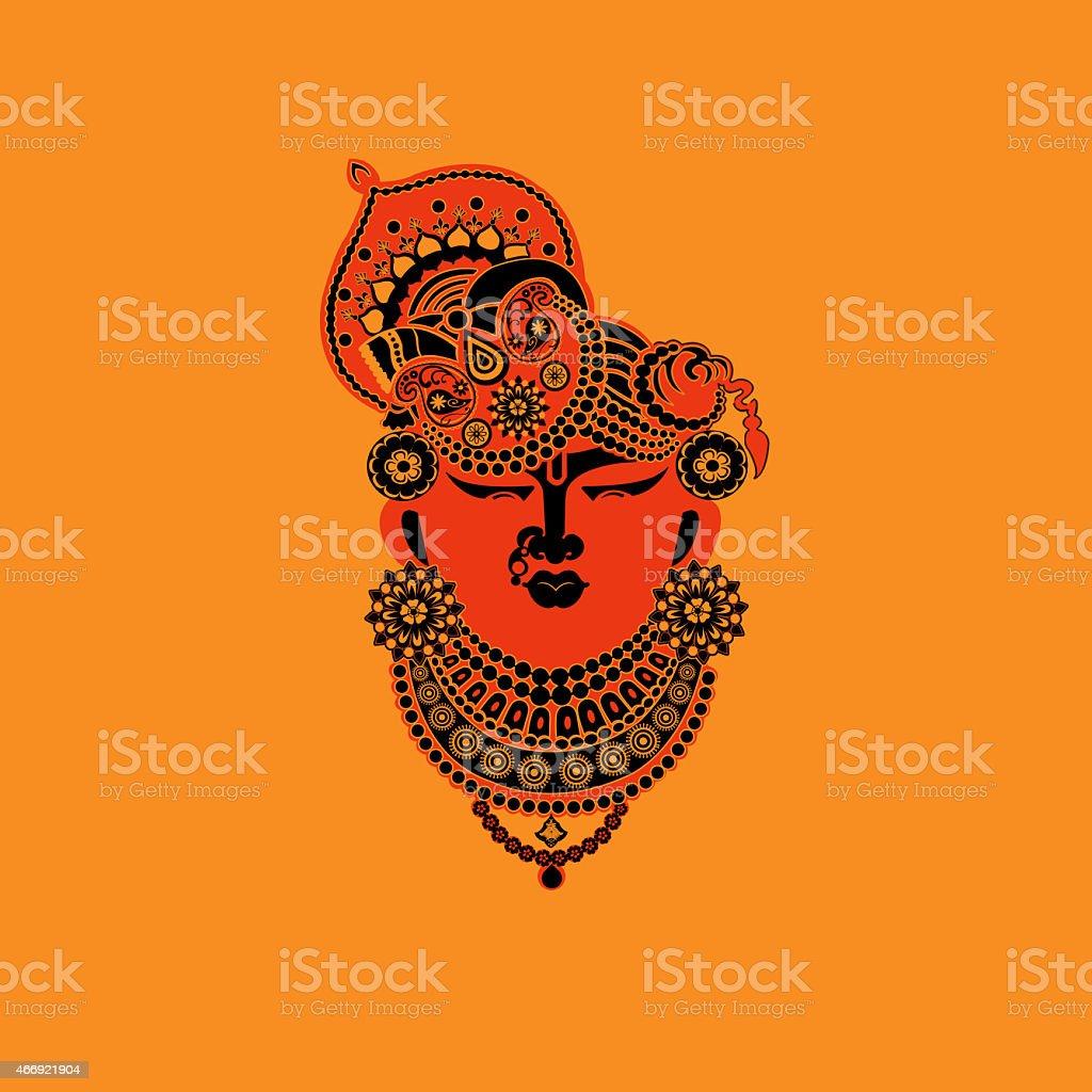 LORD KRISHNA ,the hindu GOD stock photo