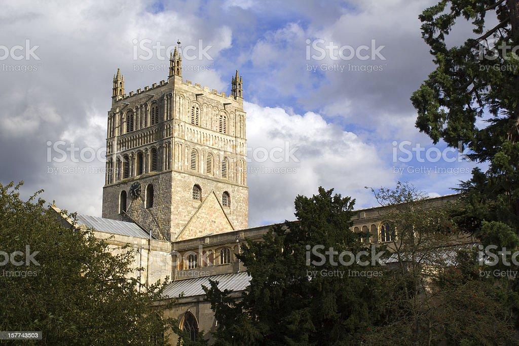 The historic Abbey at Tewkesbury, Gloucestershire, Severn Vale, UK stock photo