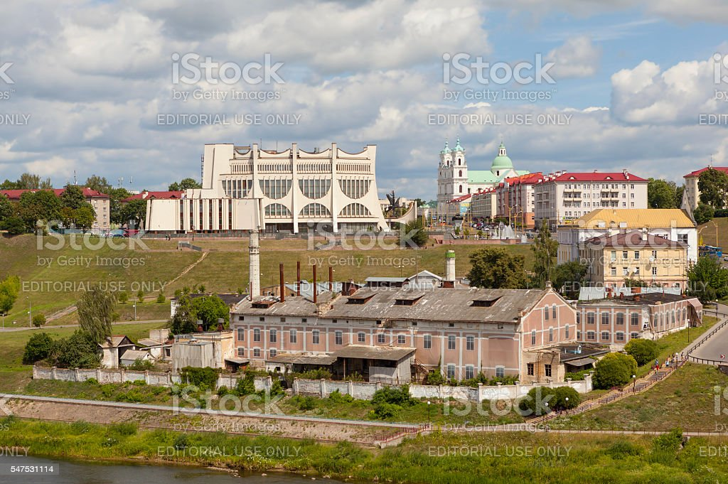 The historic center of Grodno. Belarus stock photo