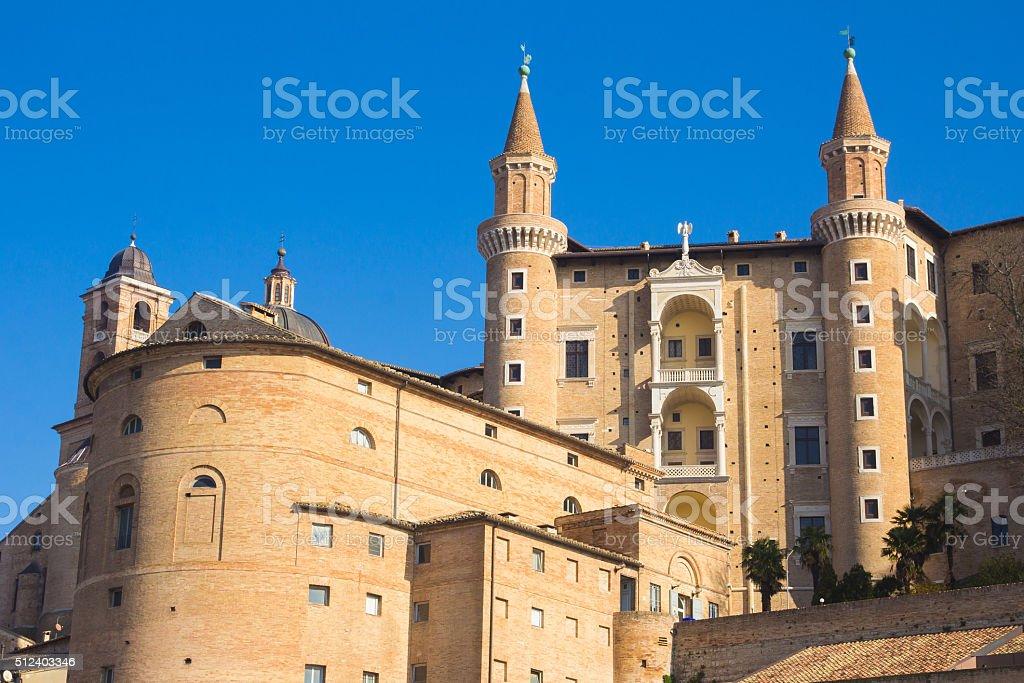 The historic center of Urbino stock photo