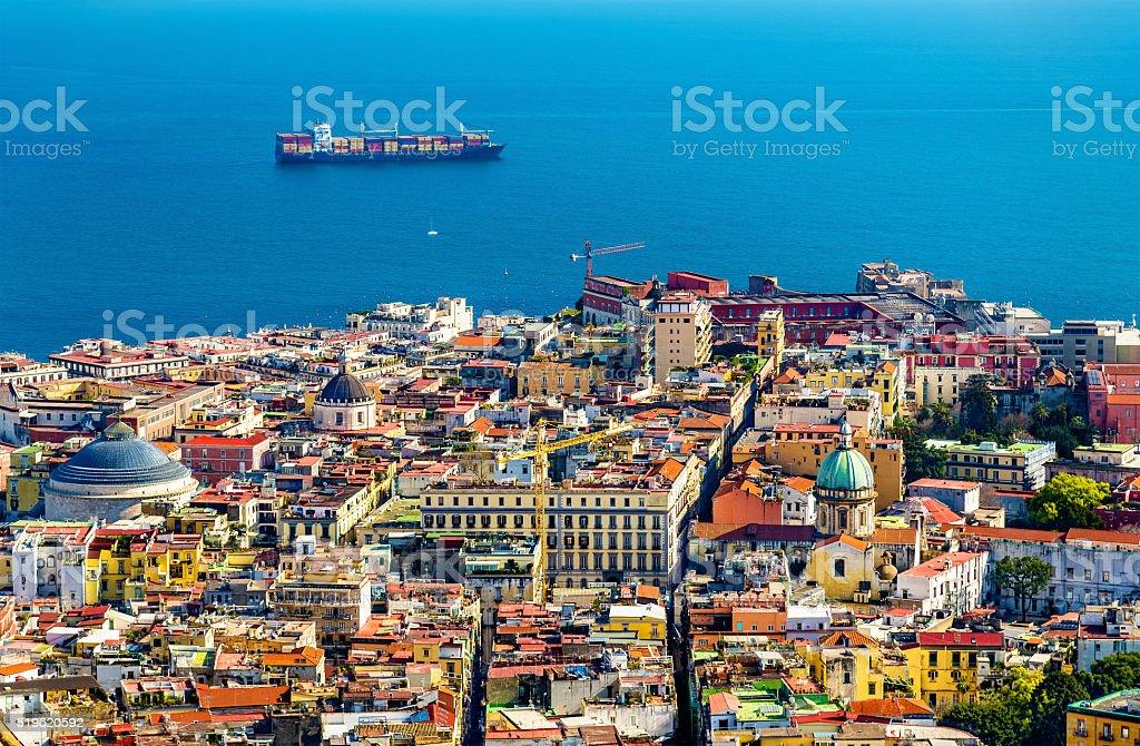 The historic centre of Napoli stock photo