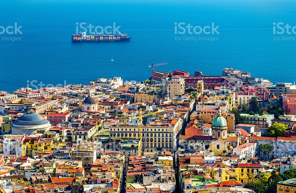 The historic centre of Napoli stock photo