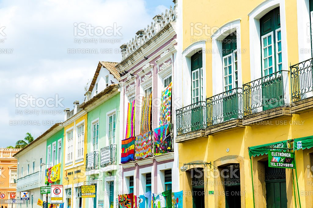 The historic centre of Salvador, Brazil stock photo