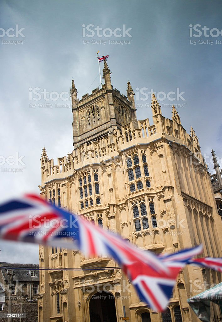 The historic Church of St John the Baptist in Cirencester stock photo