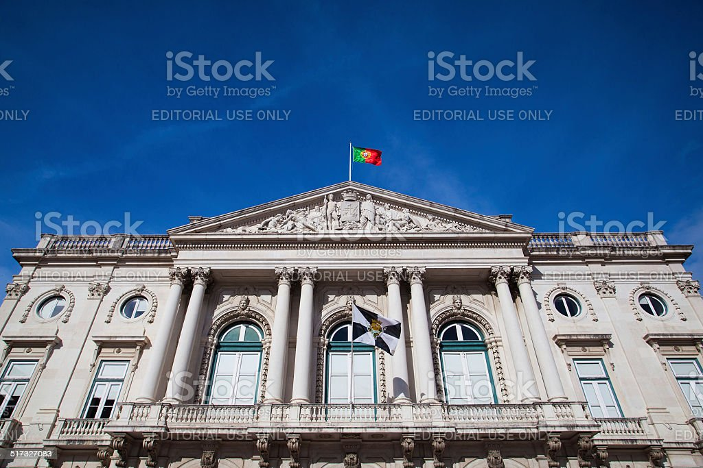 The historic City Hall building stock photo