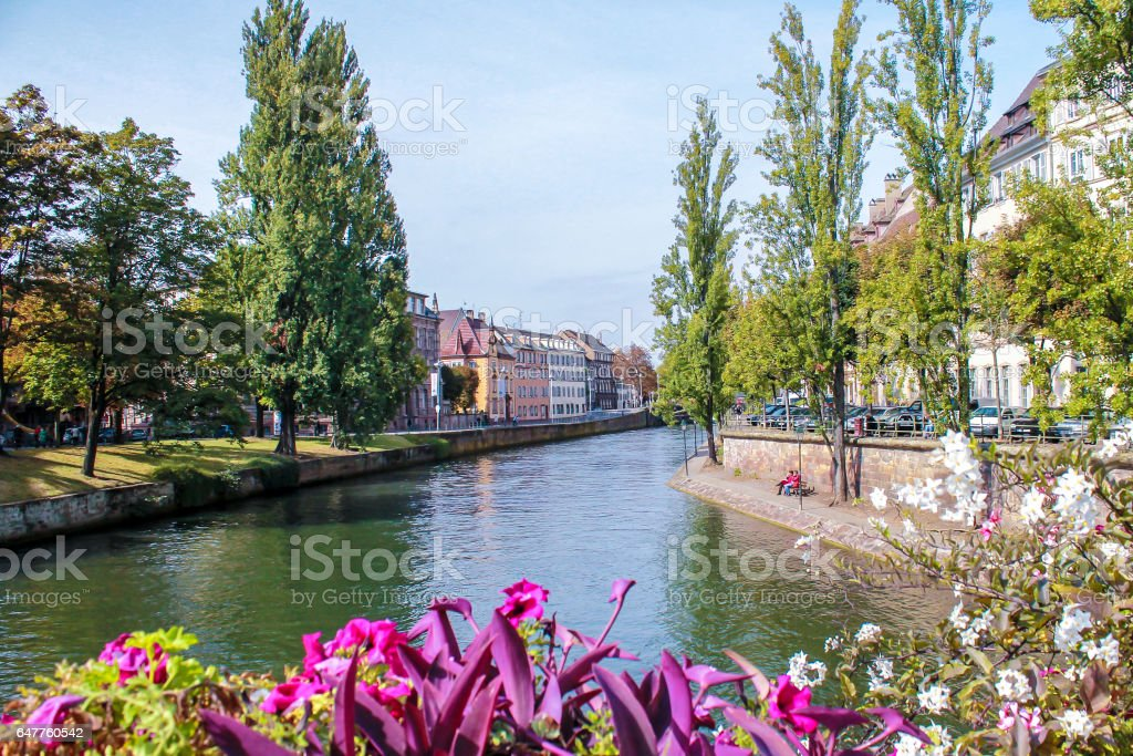The historic core of Strasbourg, France stock photo