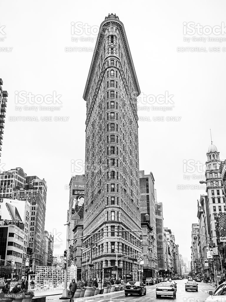 The Historic Flatiron Building stock photo