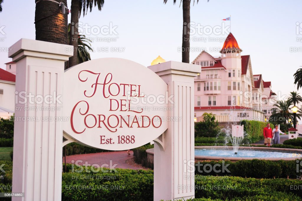 The historic Hotel del Coronado stock photo