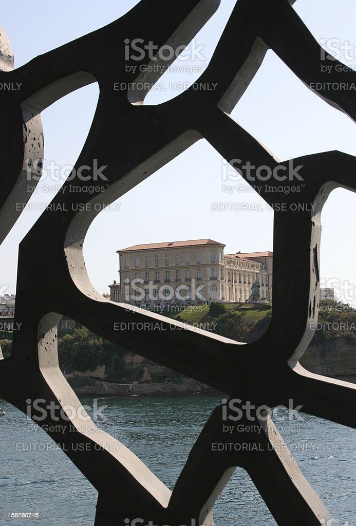 The historic palace 'Villa Pharo' in Marseille, France. stock photo