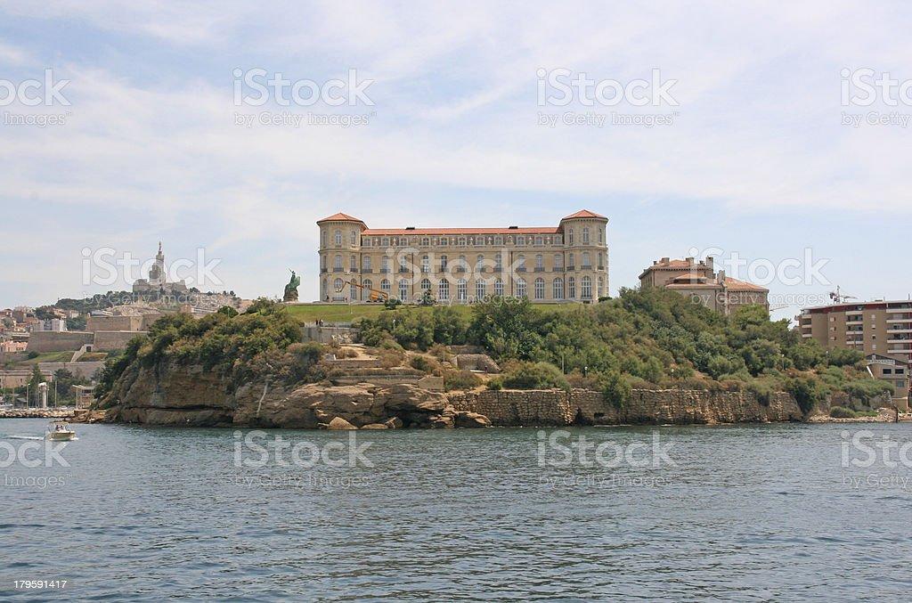 The historic palace 'Villa Pharo' of Marseille, France stock photo