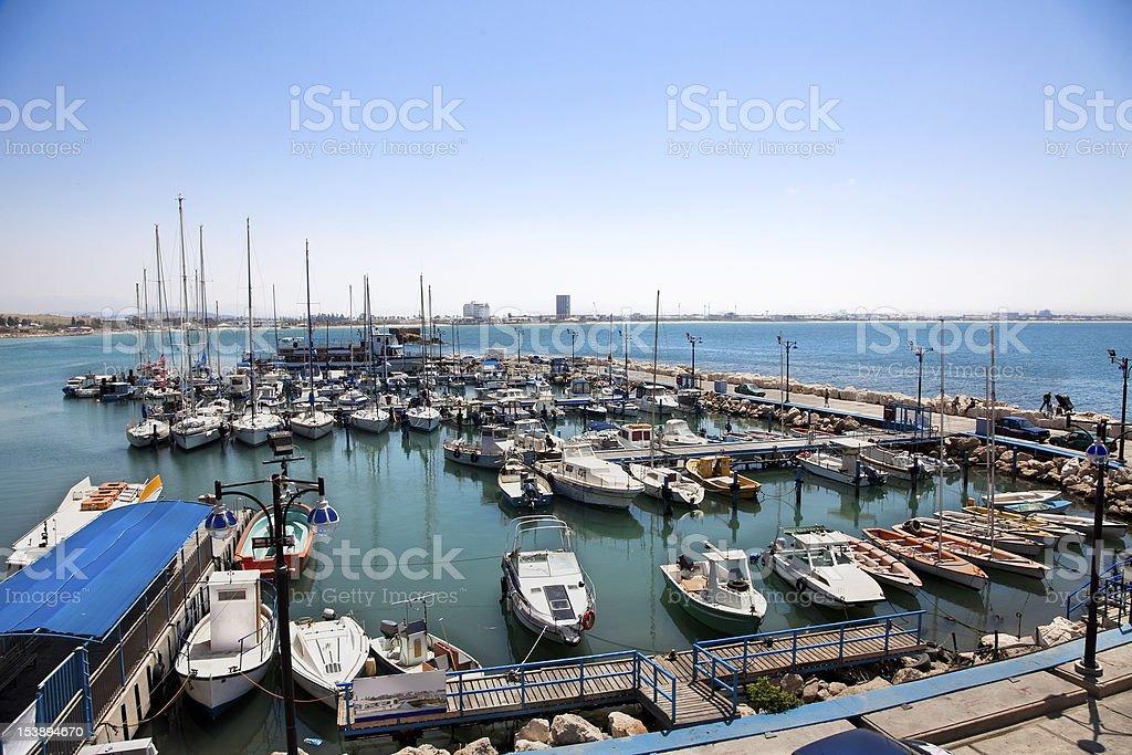 The historic port of  Akko, Israel stock photo
