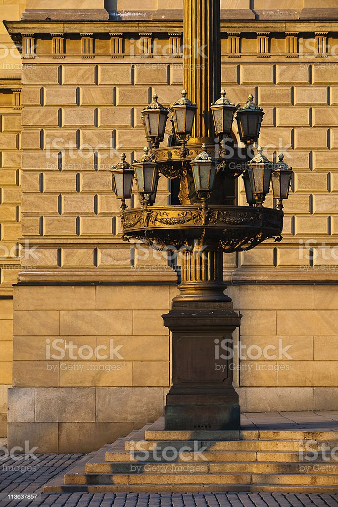The historic street lamp royalty-free stock photo