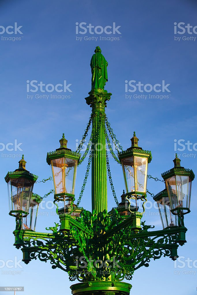 The historic street lamp royalty-free stock photo