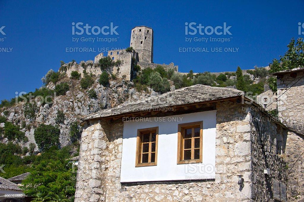 The historic urban site of Pocitelj stock photo