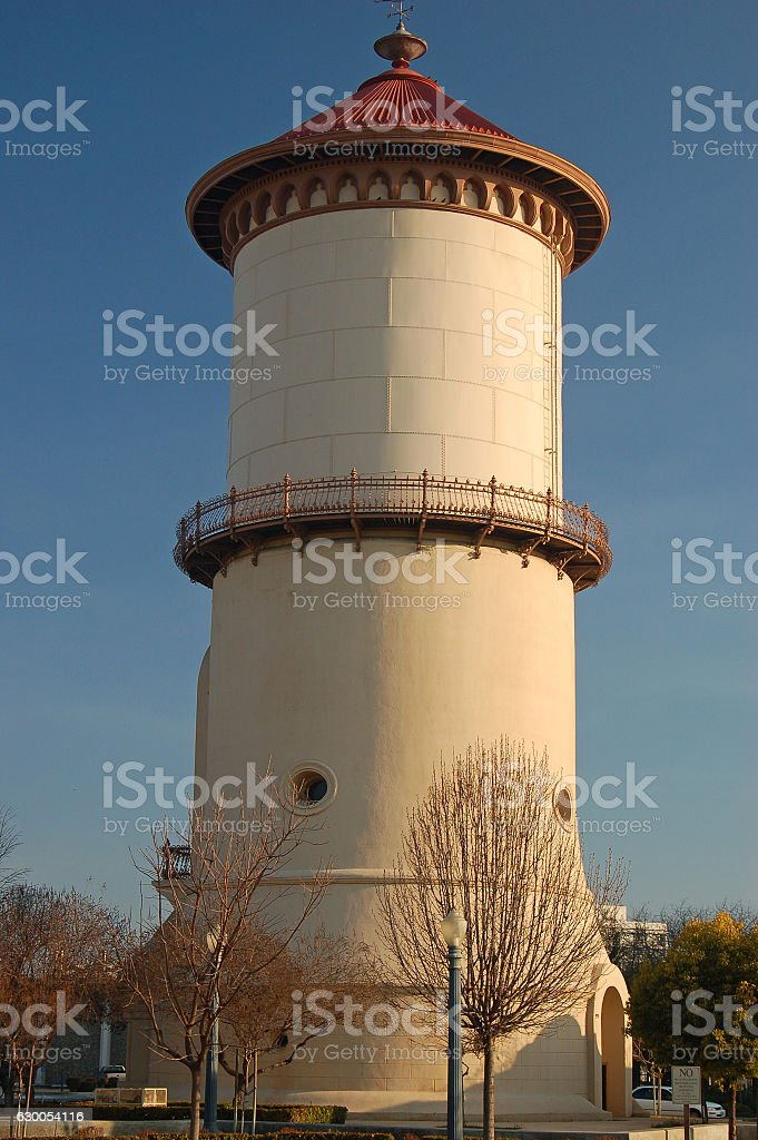 The Historic Water Tower in Fresno, California stock photo