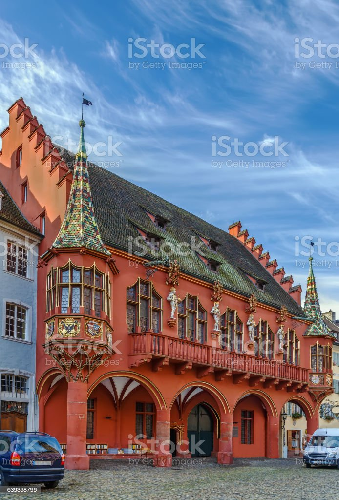 The Historical Merchants Hall, Freiburg im Breisgau, Germany stock photo