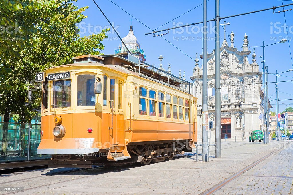 The historical trasportation of Porto stock photo