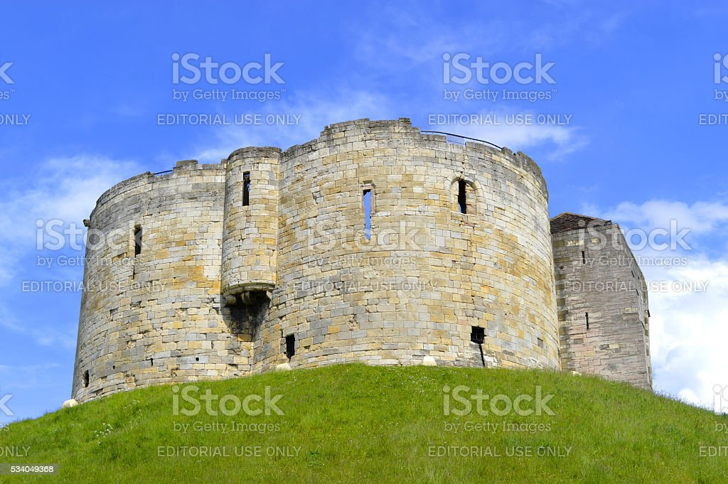 The historical York Castle in the city of York stock photo