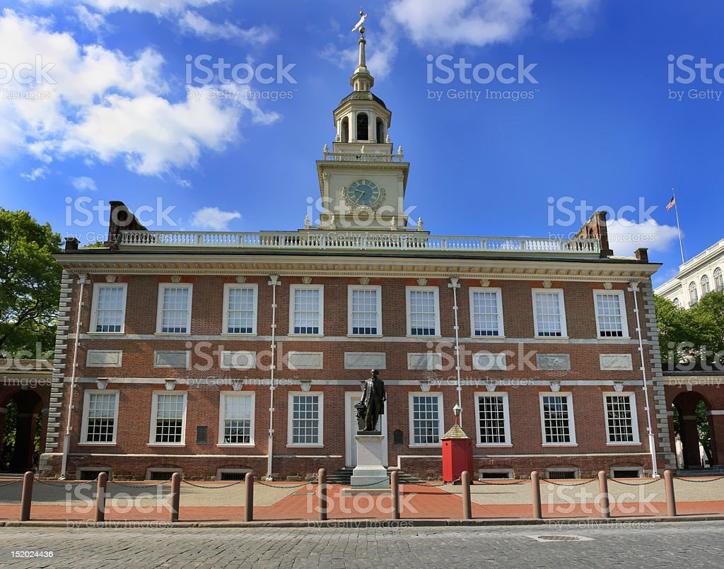 The history and present in one place stock photo
